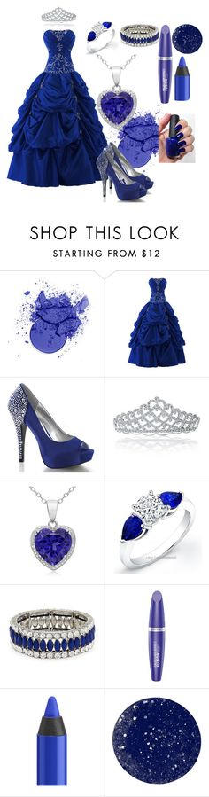 """Prom Dress"" by buttercreamkisses ❤ liked on Polyvore featuring Bling Jewelry, Kenneth Jay Lane, Max Factor, Urban Decay and NARS Cosmetics"