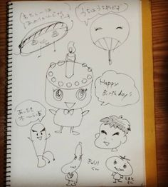 息子がキャラを描くという宿題で悩んでいたのでアイデア出ししてみたー #drowing #practice #おえかきの練習