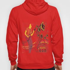 GuitarMan Sound Space Hoody by maxvision Graphic Sweatshirt, Unisex, Hoody, Space, Sweatshirts, Stuff To Buy, Zip, Medium, Fashion