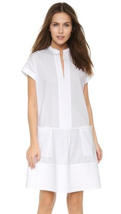 Vince Rolled Sleeve Dress - visible facings and interlining