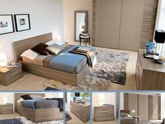 CAMERA ZIRCONE  Moderna ma raffinata, la camera da letto Zircone con finitura in grigio parigi risulta particolarmente ricercata. La composi...