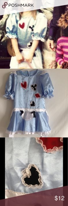 Girl's Alice in Won costume Worn once for Halloween. Great condition! Costumes Halloween