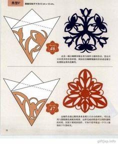 Verschiedene Schneeflocken basteln - Schablonen und Mustern-dekoking-com-4