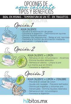 Opciones de agua caliente, tipos y beneficios... #hábitos #habitosmx #salud #health