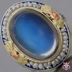 Vintage Blue Moonstone Ring  WOW! so cool!