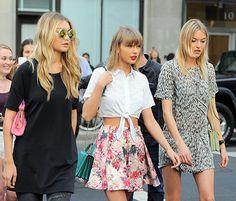 """Taylor Swift Recreates """"Bad Blood"""" Video With Gigi Hadid, Martha Hunt - Us Weekly"""