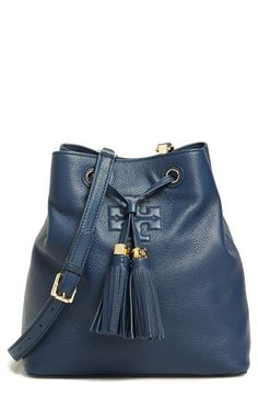 Tory+Burch+'Thea'+Pebbled+Leather+Bucket+Bag+available+at+#Nordstrom