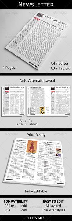 Seminar News Letter Newsletter templates, Print templates and Fonts - weekly newsletter template