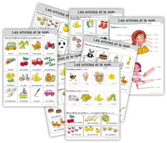 articles et noms 2 French Teacher, Teaching French, French Grammar, French Language, Activities For Kids, Nom Nom, Homeschool, Articles, Bullet Journal