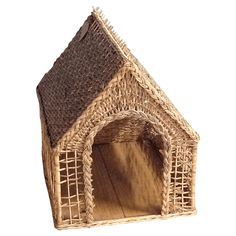 Vintage Wicker Doghouse