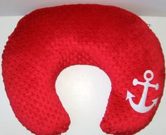 Boppy Slipcover, Boppy Cover, Anchor, Nautical, Ocean, Minky, Color Choices, Baby Shower Gift, Nursing Pillow Cover, Option To Add A Name
