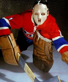 Jacques Plante's goalie mask, which he first wore at New York's Madison Square Garden on Nov. Plante is known as the player who popularized the goalie mask, though Clint Benedict of the Montreal Maroons was the first to wear one. Montreal Canadiens, Mtl Canadiens, Hockey Goalie, Hockey Teams, Hockey Players, Hockey Stuff, Nhl, Goalie Mask, National Hockey League