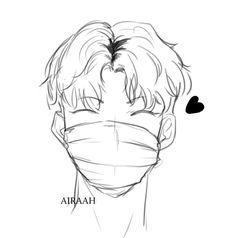 Comic Anime, Anime Manga, Anime Art, Manhwa, Anime Boy Sketch, Mask Drawing, Vkook Fanart, Anime Expressions, Manga Love