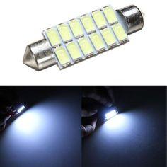 [US$1.59] 42MM 5630 12SMD Festoon Dome Map Interior LED Light Lamp BulbReading Light  #12smd #42mm #5630 #bulbreading #dome #festoon #interior #lamp #light