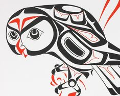 Owl (1977) by Glen Rabena, Adopted Haida artist (GR1977-01)