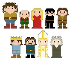 Princess Bride Pixel People Character Cross by CheekySharkLabs, $4.50