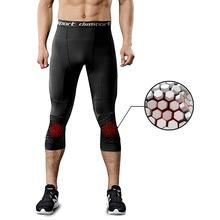 Mens Gym Sports Compression Shorts Wear Under Fitness 3//4 Pants Workout Tights