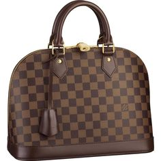 A true Louis Vuitton icon,the Alma looks chic and feminine in understated Damier canvas. Its elegant curved shape,shiny golden brass details and smooth leather trimmings embody classic city style Louis Vuitton Damier, Louis Vuitton Taschen, Sacs Louis Vuiton, Louis Vuitton Online, Louis Vuitton Handbags, Vuitton Bag, Christian Audigier, Lv Handbags, Handbags Online