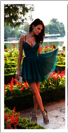 Sexy Homecoming Dress, V-Neck Homecoming Dress, Spaghetti Strap Homecoming…