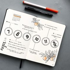 Creative Organization: Weekly Spread Idea for your Bullet Journal. Bujo weeklies. Planner inspiration. Organizer & Scrapbook Design