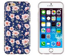 "iPhone 6 Case, DandyCase PERFECT PATTERN *No Chip/No Peel* Flexible Slim Case Cover for Apple iPhone 6 (4.7"" screen) - LIFETIME WARRANTY [Vintage Navy Floral] DandyCase http://www.amazon.com/dp/B00NYF32I0/ref=cm_sw_r_pi_dp_G-Dmub1X8G1KE"