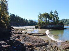 Exploring the shoreline at the Salt Creek Recreation Area.