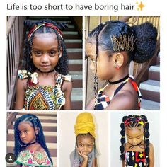 ⚡️life⚡️is too short to have boring hair💃🏼💃🏼 Baby Girl Hairstyles, Black Girls Hairstyles, Cute Hairstyles, Braided Hairstyles, Children Hairstyles, Hairstyle Ideas, Natural Hair Care, Natural Hair Styles, Kids Natural Hair