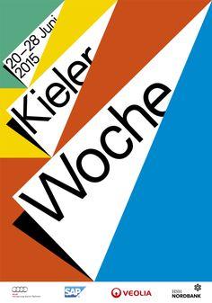 Kiel Regatta (an annual sailing event in Kiel, Germany) poster.