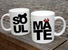 Soulmate  Couple Mugs Ceramic Gift Mugs Gift Idea