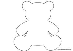 Best Photos of Bear Template Printable - Teddy Bear Stencil . - ClipArt Best - Her Crochet Felt Diy, Felt Crafts, Diy And Crafts, Crafts For Kids, Baby Shower Parties, Baby Boy Shower, Bear Stencil, Moldes Para Baby Shower, Bear Template
