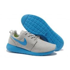 Billige Nike Roshe Run Læder Lysgrå Blå Herre Skobutik | Købe Nike Roshe Run Læder Skobutik | Nike Skobutik Billige | denmarksko.com