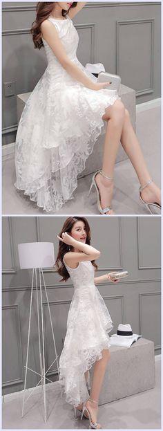 Sleeveless Mesh Vogue Lace Dress #lacedress #tidestorereviews #beauty #fashion
