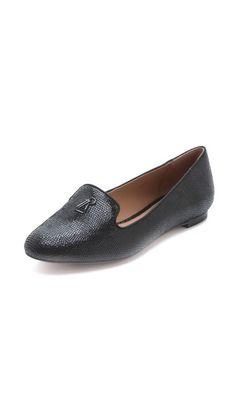 4a60eb1ae01 Rachel Zoe Zahara Lizard Loafers Luggage Accessories