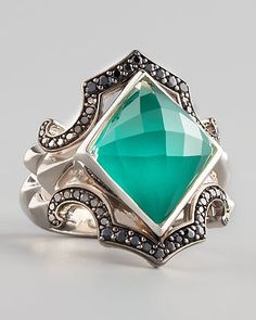 neiman marcus silver jewelry | Stephen Webster Crystal Haze Chrysoprase Ring