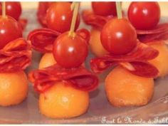 Brochette de melon, chiffonnade de chorizo et tomate cerise, Photo 2