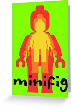 """""""Colored Minifigs by Customize My Minifig"""" Greeting Cards & Postcards by ChilleeW 