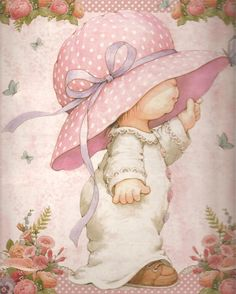 Art by Ruth Morehead Sarah Kay, Holly Hobbie, Cute Images, Cute Pictures, Bing Images, Decoupage Tissue Paper, Baby Posters, Baby Illustration, Baby Painting