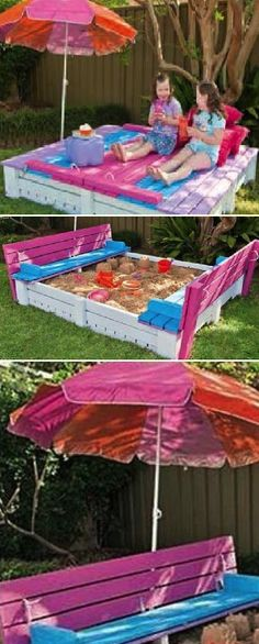 DIY Sand Box Using Wooden Pallets