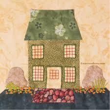 Image result for applique house quilt patterns