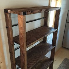Ana White | Reclaimed Wood Rolling Shelf - DIY Projects