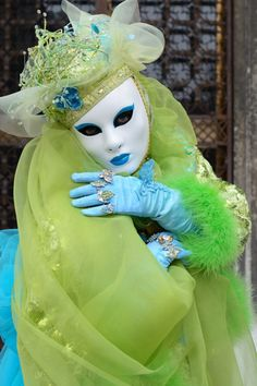 #Venice Carnival..Weird pic but i like the green