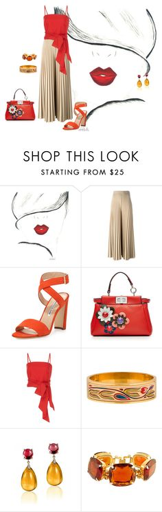 """condiciones.!!!"" by liliamarquez on Polyvore featuring moda, Givenchy, Manolo Blahnik, Fendi, MDS Stripes, Hermès y Goshwara"