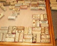 Homemade bulletin board! All you need is a picture frame & lots of wine corks! wine corks, cork boards, cork trivet