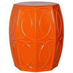 Treillage Garden Stool - Orange