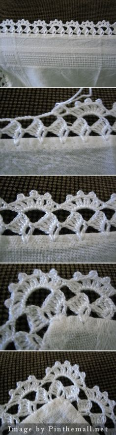 Crochet edging with corner ~~ filomena-crochet-. [ Crochet edging with corner- my mother used to do so much of this before her arthritis became too intense, Crochet edging wirh corner ~~ - a grouped images picture, Link is expired but I Crochet Boarders, Crochet Edging Patterns, Crochet Lace Edging, Thread Crochet, Crochet Trim, Filet Crochet, Crochet Designs, Crochet Crafts, Crochet Doilies