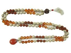Yoga Energy Mala- Rudraksha Carnelian Stone Meditation Healing Mala Prayer Necklace Mogul Interior http://www.amazon.com/dp/B00P26Y79M/ref=cm_sw_r_pi_dp_Nuavub18V5K99