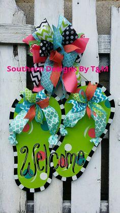 Summer Wreath Summer Wreath Door Wreaths Flip Flop Wreaths