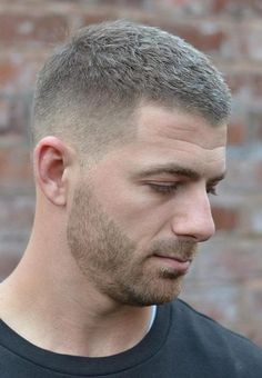 Subtle Side Taper with Rough Top - Here's a cut to rely on for any man. It's a short, messy top — you don't really notice the messiness since it's so short — with a fade down the sides and some stubble. Short Fade Haircut, Short Hair Cuts, Mens Short Messy Hair, Short Hair And Beard, Mens Fade Haircut, Fury Haircut, Beard Haircut, Popular Mens Hairstyles, Messy Hairstyles