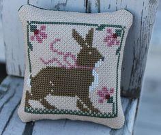 prairie schooler a prairie christmas rabbit | Cross Stitched Rabbit Pinkeep Prairie Schooler Home & Living Country ...