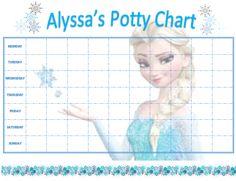 free potty training charts frozen